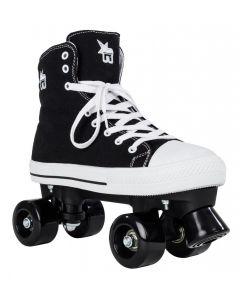 Rookie Canvas High Rollerskate in Zwart