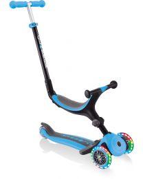 """Globber Go up Scooter pliable pour enfants """"4 en 1"""" avec lumières en bleu"""