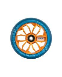 MGP 120mm Aluminium wiel in Blauw met Oranje Kern