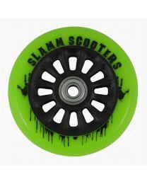 Slamm Nycore 110mm Nylon Stuntstep Wiel in Groen met Zwarte Kern