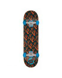 "Santa Cruz Skateboard Hands Allover in Zwart en Rood 7,5"""