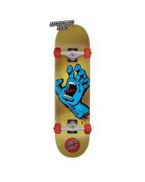 "Santa Cruz Skateboard Screaming Hand in Goud 7,75"""