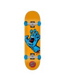 "Santa Cruz Skateboard Screaming Hand in Blauw en Oranje 7,5"""