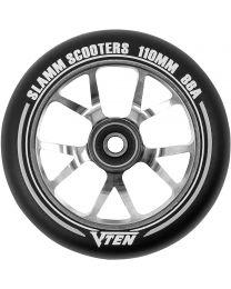Slamm V-ten 110mm Aluminium Stuntstep Wiel in Zwart met Titanium Kern