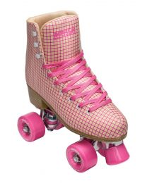 Impala Quad Roller Rolschaats in Roze Geruit