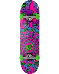 "Santa Cruz Complete Skateboard Mandala Hand 7.75"""